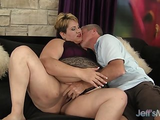 Charming Mature BBW Bonita Latina Gets Naughty with an Old Man
