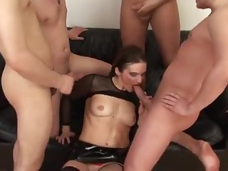 Attractive breasty experienced woman featuring cocksucking video