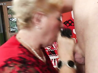 Old-and-Young group sex with 2 grandmothers