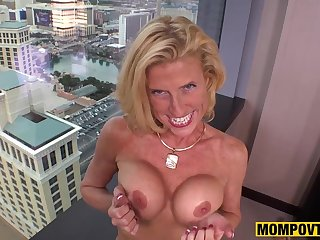 Mother I´d Like To Fuck Nympho Cougar Fucks Your Prick like Young Cutie POV PORN - amateur sex
