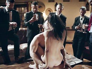 Escort babe Alina fucks in public