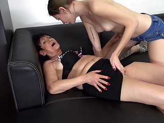 Seductive lesbian pussy and ass licking with Chanel and Karina W.