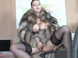 Fur coat seduction