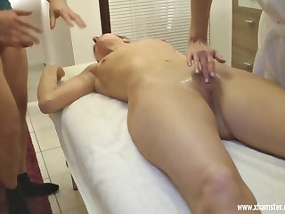 Two hottie Milfs need a Massage
