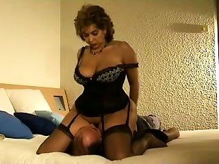 Femdom fetish mature stockinged hussies
