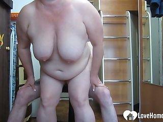 GILF likes to choke on my huge dick