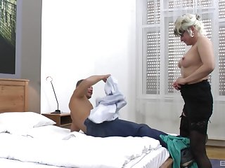 handsome guy destroys wet and shaved Botos Zoltane's pussy on the bed
