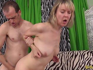 Blonde British GILF Jamie Foster Has Her Shaved Pussy Plowed
