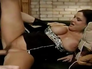 Awesome buxomy experienced lady is sucking cock