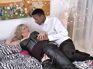 Alisha Rydes and her  boyfriend with big black cock