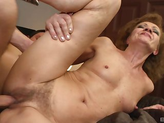 Mature with small tits, rough sex with the nephew