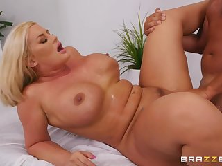 Julie Cash makes love with Keiran Lee on the massage couch