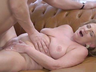 Sexy granny with big boobs enjoying hardcore sex
