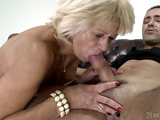 Being 60 And Desirable - granny GILF attacking younger cock for cum load