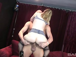 Hot blonde MILF getting fucked hard by a big pecker