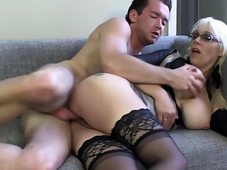 Chubby mature blonde hardcore pounded by big black dick