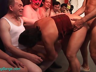 Horny 70 years old mom first gangbang orgy
