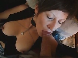 Short haired mature whore loves to suck a dick and she is built just right