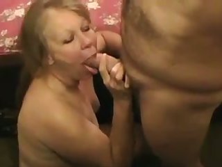 Mature chubby whore loves having her face cum on and she is so lustful