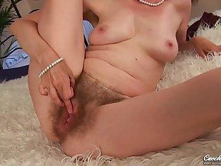 Evelyn  Czech Cougar - Hairy hard sex