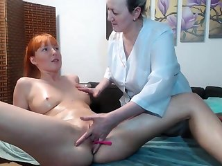 Hot amateur lesbian massage and fingering