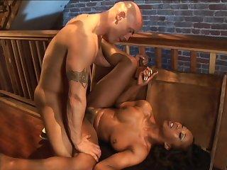 ebony babe Stacey Cash interracial sex