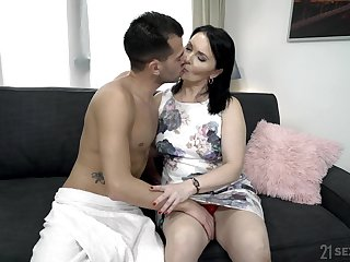 Emotional mature fat whore Ilsa gets hammered really rough by her lover