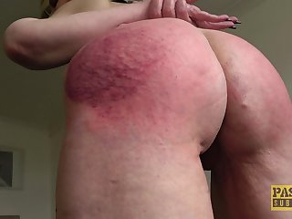 Rough mouth and pussy fucking with ass spanking for Skylar Squirt