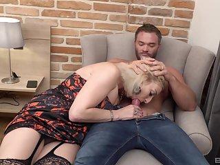 Man's huge dick drives auntie crazy