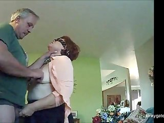Granny slave Nancy 68 worships my cock. Since a year she is a well trained cock slave.