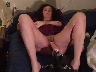 Italian Mom Jerking Her Tight Pussy