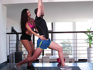 Workout that ends in anal