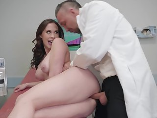 Gyno exam leads Chanel Preston to fuck thither the doc