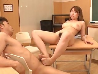 Creampie in the classroom at hand busty Iroha Suzumura
