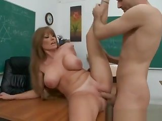 Dazzling buxomy experienced female Darla Crane was performed in rimjob video