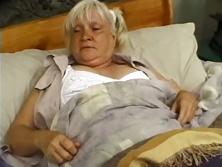 Granny Mildred enjoying monster cock hardcore missionary