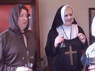 2 nuns and a monk