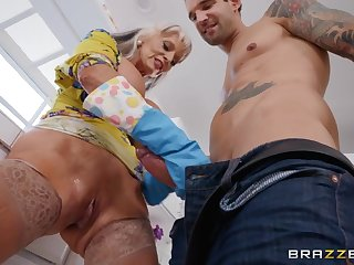 Massive tits on his cock loving mother in law