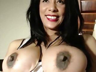 perky tits big ass slut fucks her juicy pussy with dildo
