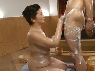 Chizuru Iwasaki at a sexy shop enjoying kinky action