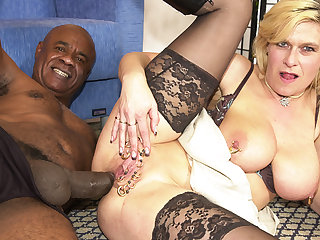 pierced mature bootie pounded by a black monster one-eyed snake