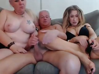 Grandma and Grandpa Threesome With Niece