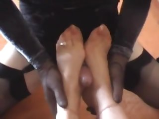 Mature Anabele Mistress Footjob Torture Sissy Slave Big Balls Cum_480p