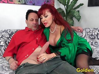 Big Tits Older Cumslut Sexy Vanessa Destroys a Lucky Guys Cock