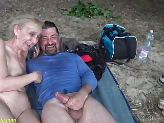 ugly 85 years old grandma gets rough outdoor fucked by her big cock toyboy