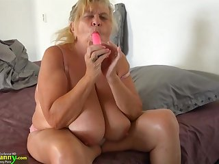 18 Years Old Girl With Strapon Fucks Sbbws Old Granny
