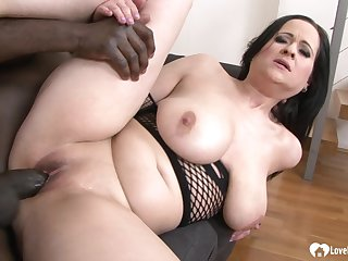 Babe with big tits got penetrated by BBC