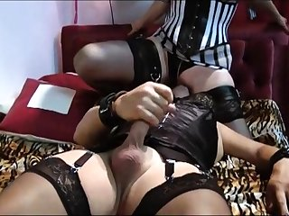 Stockings fetish femdom hottie