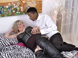 Alisha Rydes and her  boyfriend with big black cock