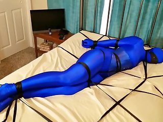 Blue Zentai Bondage (2)